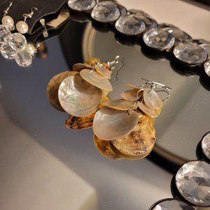Gold & Cream Earrings